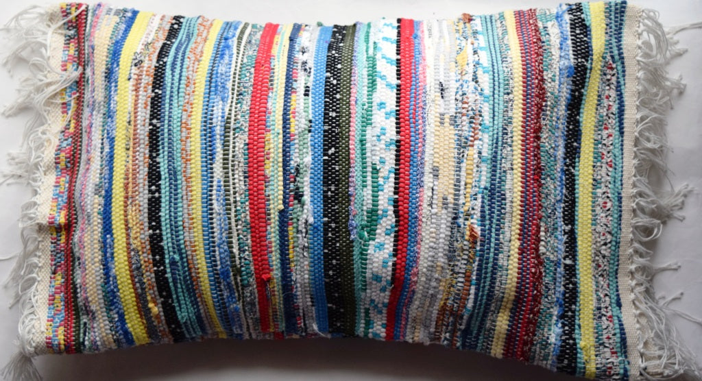 Cushion cover, woven, multi-stripes