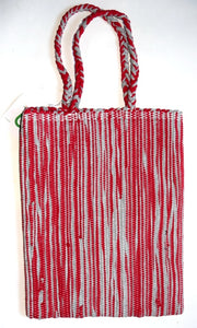 Bag, woven tote, Book, Stripe