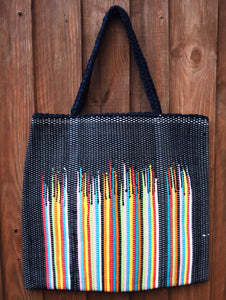 Bag, woven tote, large, Flame