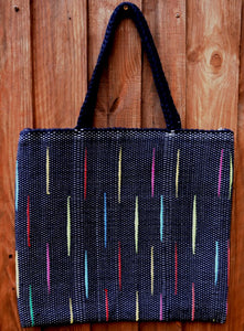 Bag, woven tote, large, Flash