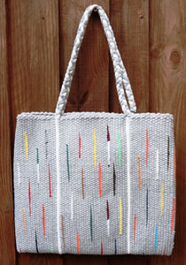Bag, woven tote, medium, Flash