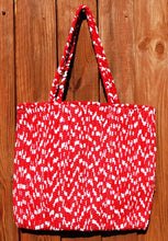 Load image into Gallery viewer, Bag, woven tote, medium, Chevron