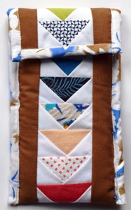 Pouch, rectangular, patchwork