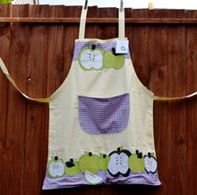 Load image into Gallery viewer, Apron, full-length, appliqué, Apples
