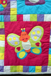Quilt/playmat, child, Bugs & Butterflies