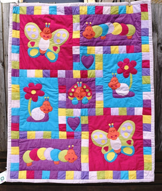 Quilt, child, Bugs & Butterflies