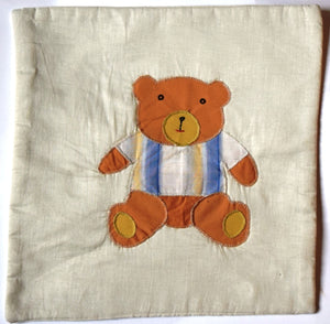 Cushion cover, appliqué, Teddy