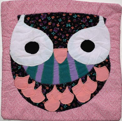 Cushion cover, appliqué, Owl 1