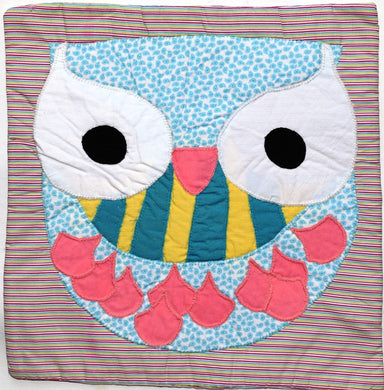 Cushion cover, appliqué, Owl 2