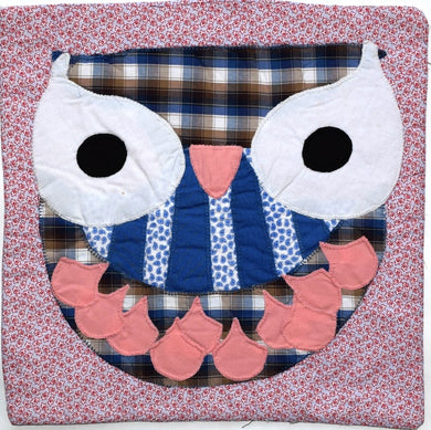 Cushion cover, applique, Owl 3