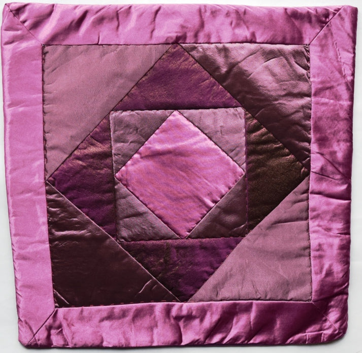 Cushion cover, patchwork, Satin