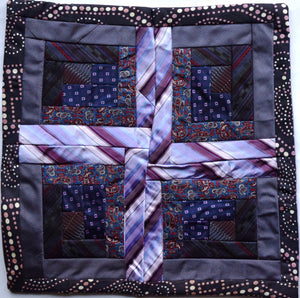 Cushion cover, Patchwork ties