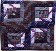 Load image into Gallery viewer, Cushion cover, Patchwork ties
