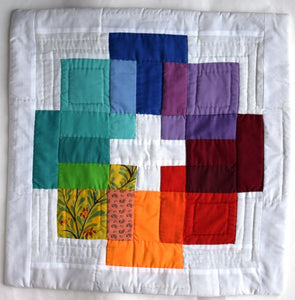 Cushion cover, patchwork, Blocky
