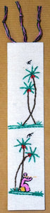 Bookmark, embroidered