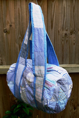 Bag, holdall, patchwork, Blues