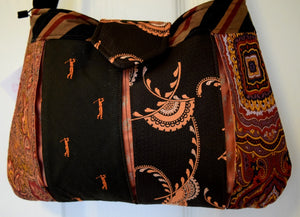 Bag, handbag, Ties, Brown 3