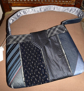 Bag, handbag, Ties, Grey/Navy