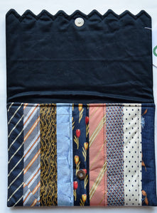 Clutch bag/iPad cover, Ties Navy 1