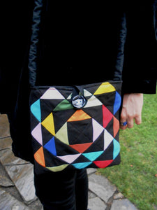 Bag, Patchwork, Triangles