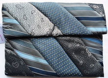 Load image into Gallery viewer, iPad cover, padded, Ties, grey-blue