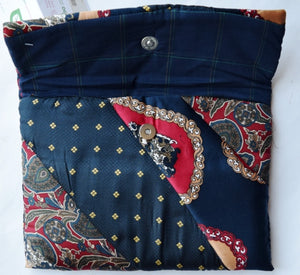iPad cover, padded, Ties, Navy 1