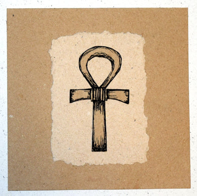 Card, collage, pharaonic Ankh