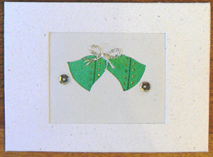 Card, Christmas bells, Ribbon
