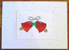 Load image into Gallery viewer, Card, Christmas bells, Ribbon