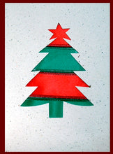 Load image into Gallery viewer, Card, Christmas tree, Ribbon