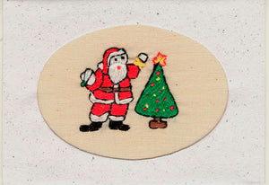 Christmas Card, embroidered