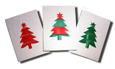 Card, Christmas tree, Ribbon