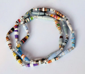 Necklace, Paper Beads, single strand