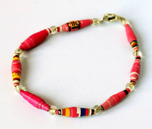 Load image into Gallery viewer, Bracelet, Paper Beads, single