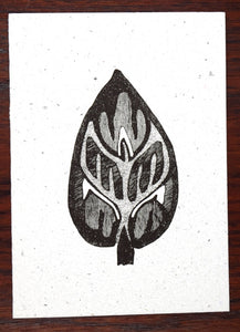 Card, Black print, Coptic 2