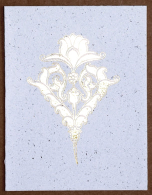 Card, Gold print, Persian 2