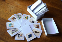 Load image into Gallery viewer, Cards, embroidered, small -Box of 10
