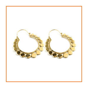 Brass Circle Hoop Earrings