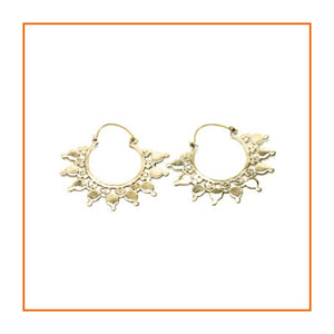 Brass Ear Hoops