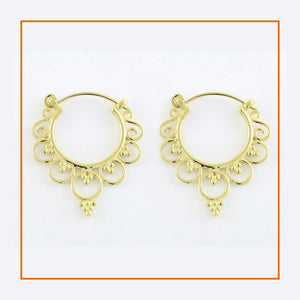Golden Ornate Earrings