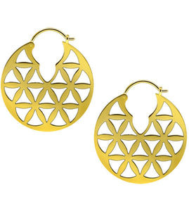 Persian Inspired Brass Hoops