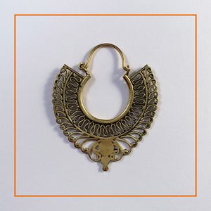 Persian Inspired Brass Earrings