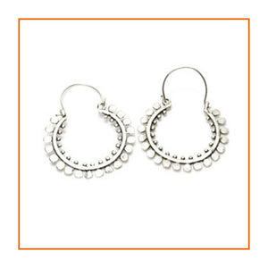 Silver Plate Brass Circle Hoop Earrings