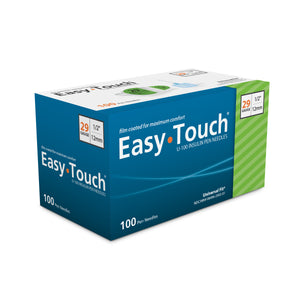 Easy Touch Pen Needles, 29g 1/2 Inch, Box 100