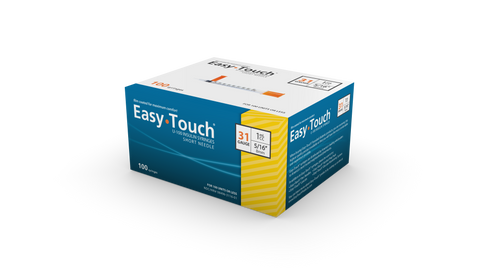 Easy Touch 31 Gauge Insulin Syringes 100