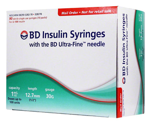 BD Ultra-Fine Insulin Syringes 30g