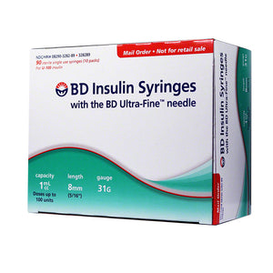 BD Ultra-Fine Insulin Syringes 31g