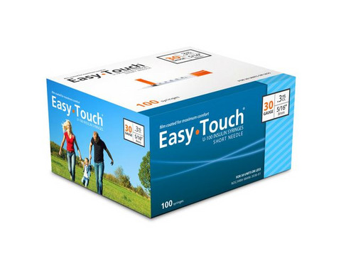 Image of Easy Touch 30 Gauge Insulin Syringes - 100