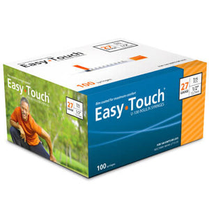 Easy Touch 27 Gauge Insulin Syringes - 100