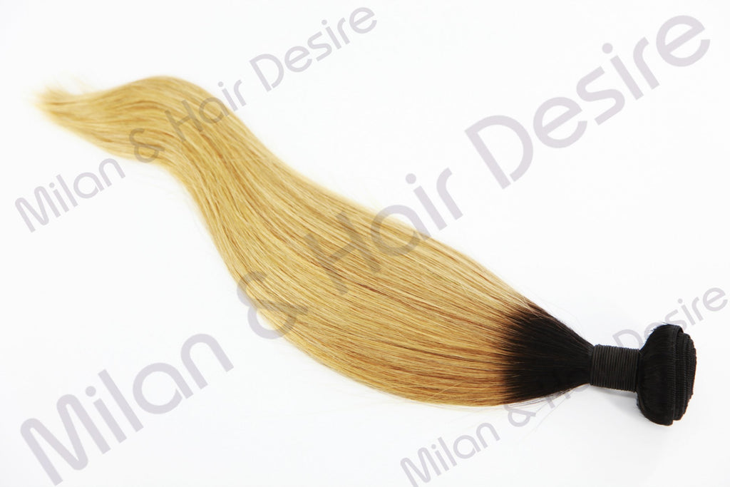 Premium Peruvian Blonde with Dark Root